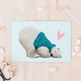 Eisbär Liebe