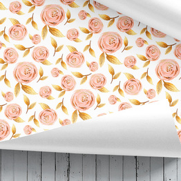 Blumen Geschenkpapier