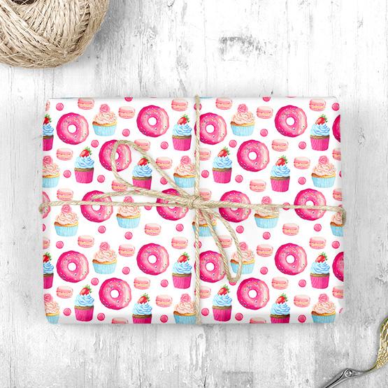 Donuts & Cupcakes Geschenkpapier