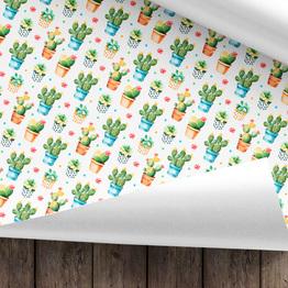 Kaktus Geschenkpapier