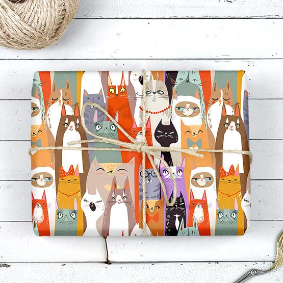 Katzen Katzen Geschenkpapier
