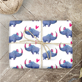 Nashorn Geschenkpapier