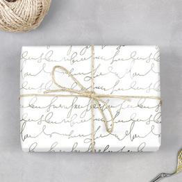 Handschrift Geschenkpapier