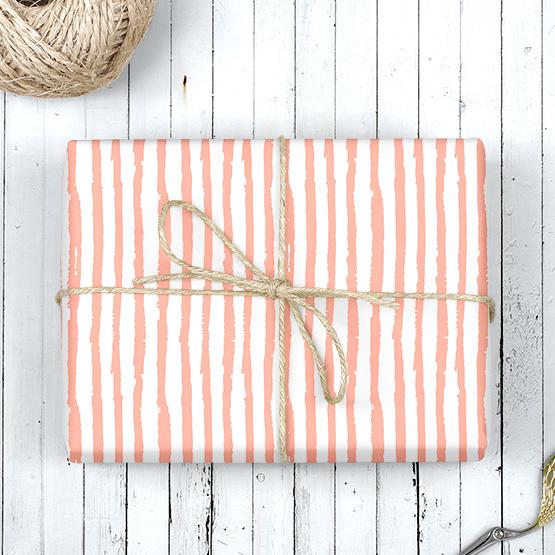 Streifen Geschenkpapier