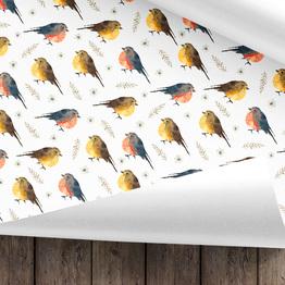Vögel Geschenkpapier
