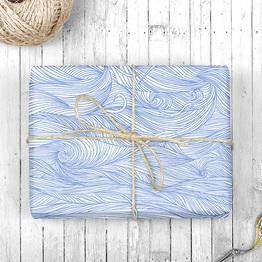 Wellen Geschenkpapier