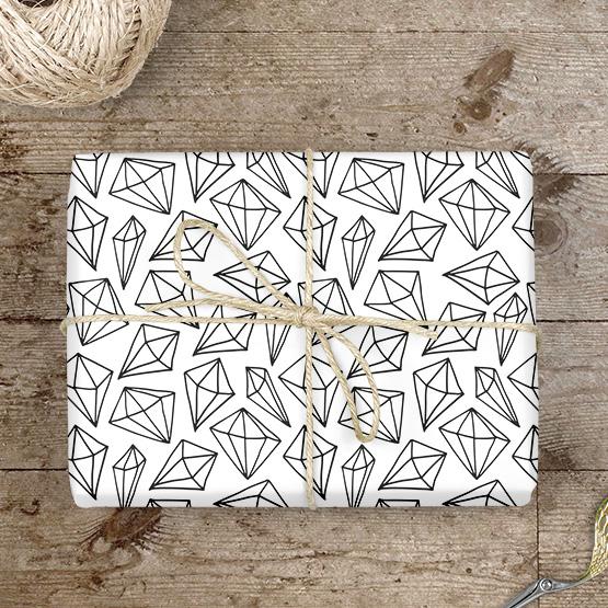 Diamanten Geschenkpapier