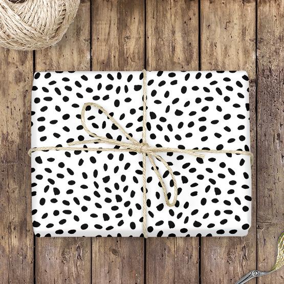 Flecken Geschenkpapier