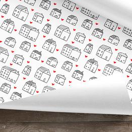 Häuser Geschenkpapier