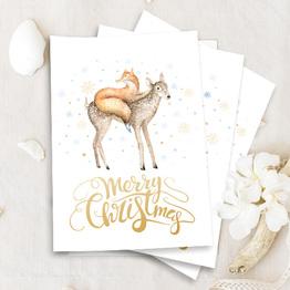 Merry Christmas Bundle 1 - Set aus 5 Karten