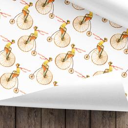 Radfahrer Geschenkpapier