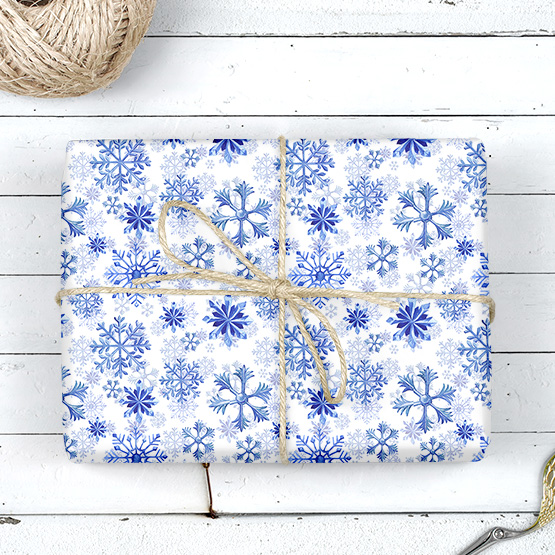 Schneeflocken Geschenkpapier