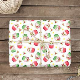 Weihnachtsmuffin Geschenkpapier