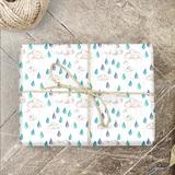 Regenwolken Geschenkpapier