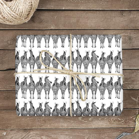 Zebra Geschenkpapier