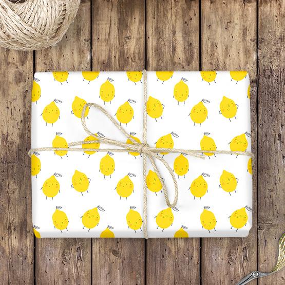 Zitronen Geschenkpapier