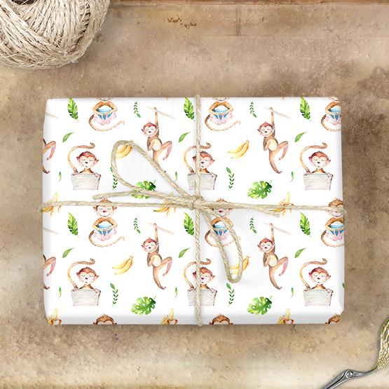 Affe Geschenkpapier