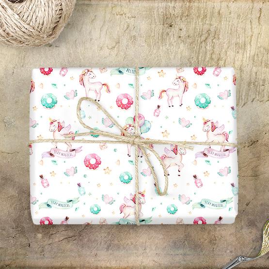 Einhorn Geschenkpapier