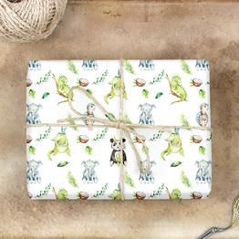 Elefant, Panda & Co. Geschenkpapier
