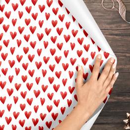 Herzen Geschenkpapier