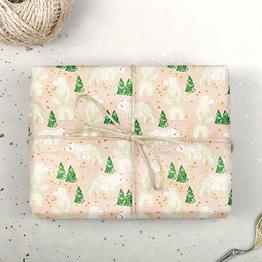 Winterbär Geschenkpapier