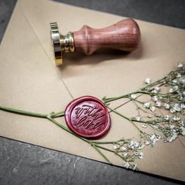 Selbstklebende Wachssiegel: With Love